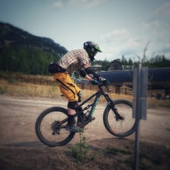 Mo captures me as I transfer down to the lift for the last stage.