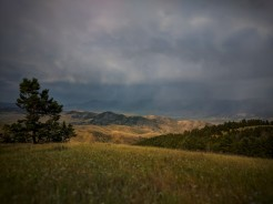 A storm rolls in on Paul and I as we rode down Dry Creek Trail.