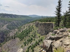 Taking Paul to a place that most visitors to Yellowstone dont stop to visit, Sheepeater Canyon.