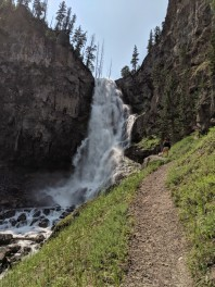 The path to the best view around Bunsen Peak