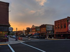 Sunset Reflections on Main Street.