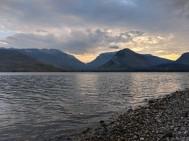 Sun setting on Jackson Lake