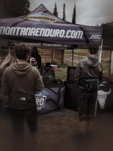 at the end of an Enduro race you turn in your chip and here I am waiting in line to turn mine in. Dismal results, really disappointed, but in the end I got the series.