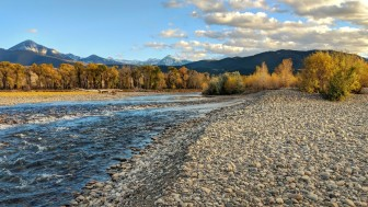 Gravel bars of the Yellowstone
