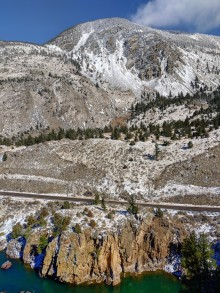 The transfer to Sphinx Trail with beautiful overlooks