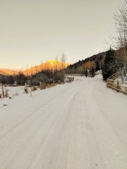 In the winter the road turns to fat bike transfer